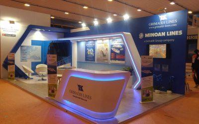 Stands Grimaldi Lines per fiere turismo