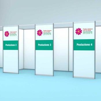 box modulari per centri vaccinali